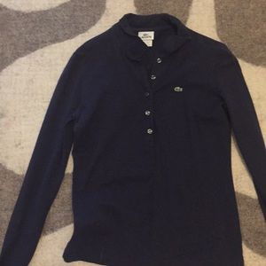 Lacoste long sleeve navy top